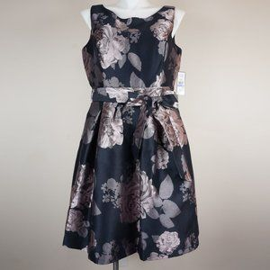 Jessica Howard Dress Fit & Flare Floral Jacquard